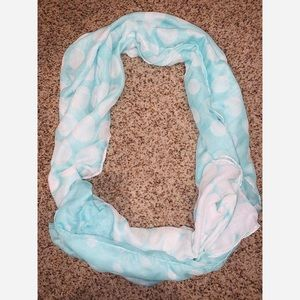 Accessories - Blue Polka Dot Scarf - reversible